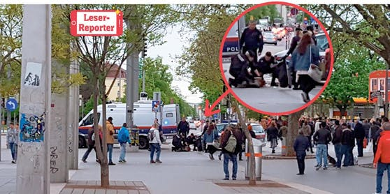 Die Polizei nahm den Randalierer am Praterstern fest.