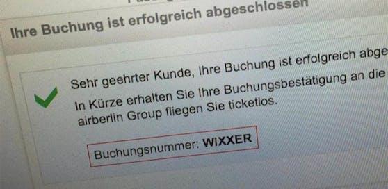 """Johanna aus Hamburg erhielt die Buchungsnummer """"WIXXER"""""""