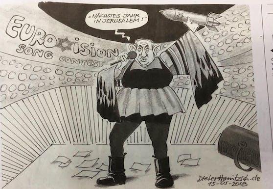 Die umstrittene Karikatur.