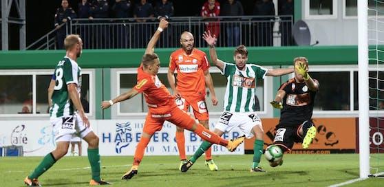 Christoph Monschein schoss die Austria mit einem Doppelpack zum Sieg in Mattersburg.