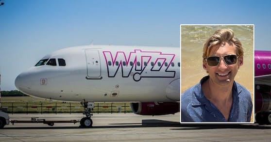 Der Amerikaner John wurde von WizzAir in Wien zurückgelassen
