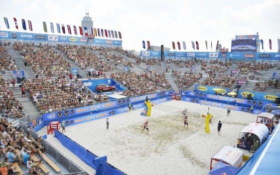 Die Beach-Arena auf der Donauinsel