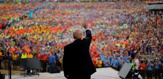 Trump sprach vor 40.000 Pfadfindern. Credit: Reuters