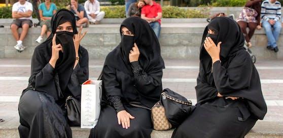Arabische Touristinnen sind öfters in der Wiener Innenstadt zu sehen - zumeist verhüllt.
