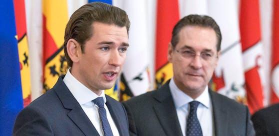 Lobende Worte kommen am Samstag von Kanzler Sebastian Kurz (ÖVP) an Vizekanzler Heinz-Christian Strache (FPÖ).