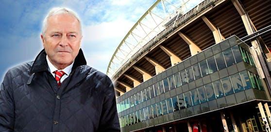 ÖFB-Boss Leo Windtner ist mit dem Ernst-Happel-Stadion so alles andere als glücklich.