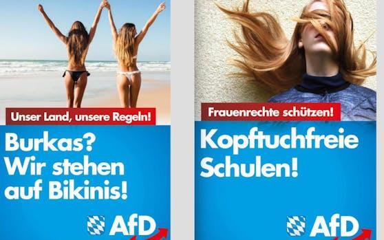 Feindbild Islam: Die AfD hetzte bereits gegen Burka und Kopftuch.