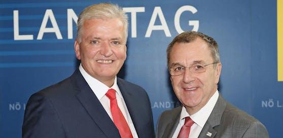 Franz Schnabl und Rupert Dworak informierten über die aktuellen Zahlen rund um das Asylwesen in NÖ.