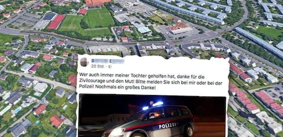 Ein Unbekannter verhinderte die Vergewaltigung in Ebelsberg. Die Mama des Opfers sucht nun auf Facebook nach dem Helden.