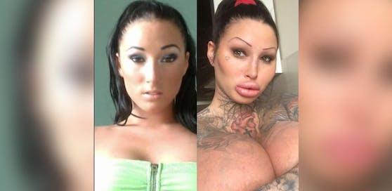 Unfassbare Verwandlung: Mary vor und nach ihren zahlreichen Beauty-OPs.