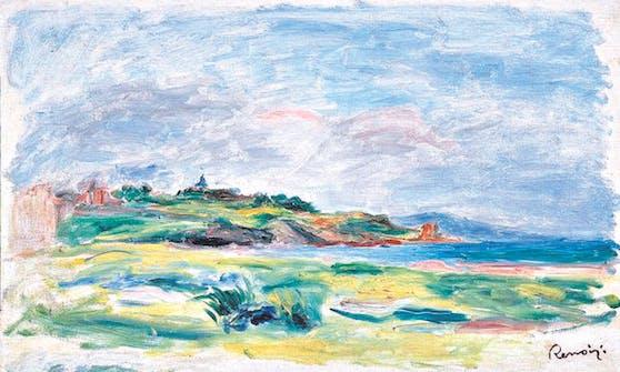 """Renoirs """"Bretonische Küstenlandschaft""""."""