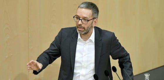 FPÖ-Klubchef Herbert Kickl im Nationalrat