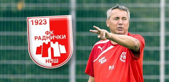 Neuer Job! Trainer Peter Pacult heuert in Serbien bei Radnicki Nis an.
