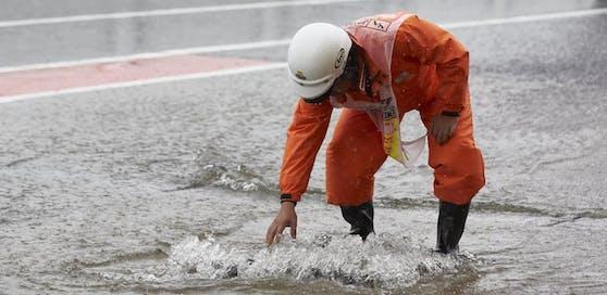 Schon 2017 kam es auf der Formel-1-Strecke von Suzuka zu Überflutungen.