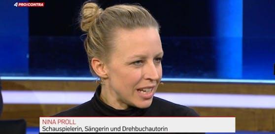 """Nina Proll befeuerte bei """"Pro und Contra"""" (Puls 4) die Debatte zum Thema #metoo."""