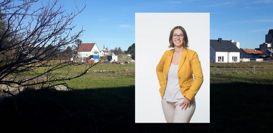 Monika Hobek-Zimmermann und Grundstück an der Möllersdorferstraße.