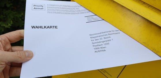 Das Innenministerium gab bekannt, dass in Österreich über eine Million Wahlkarten ausgestellt wurden.