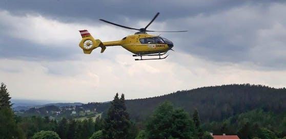 Symbolfoto eines Christophorus-Hubschraubers im Einsatz.