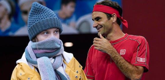 Greta Thunberg und Co. wollen Tennis-Held Roger Federer belehren