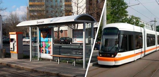 Bei der Haltestelle in Dornach rammte eine Straßenbahn einen Schüler.