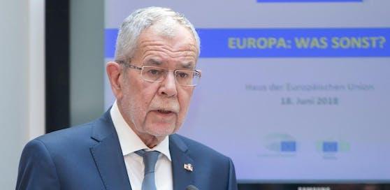 """Archivbild: Bundespräsident Alexander Van der Bellen bei der Veranstaltung """"Europa: Was sonst?"""" im Haus der Europäischen Union in Wien."""