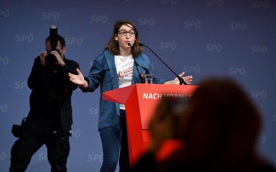 Die Chefin der Sozialistische Jugend (SJ), Julia Herr