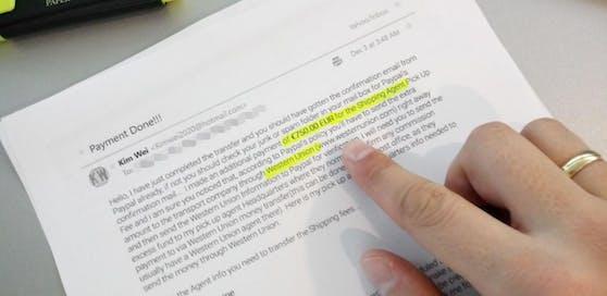 Mit diesem Schreiben wollten Betrüger einen Leser abzocken.