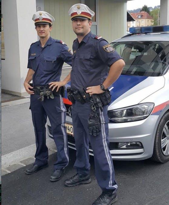 Diese zwei Polizisten retteten einen Mann aus der Donau.