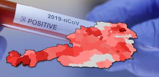 Die Zahl der Infizierten stieg in Österreich wieder an.
