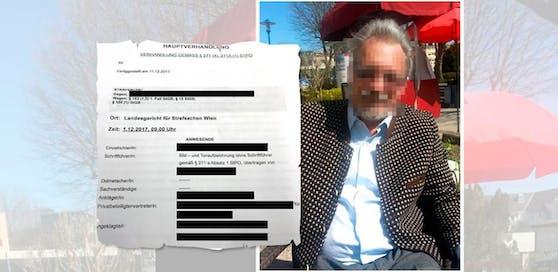 Anklage (li.); Ex-Häftling als Opfer