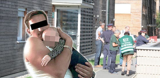 Der Verdächtige wurde erst vor drei Monaten Vater. Am Sonntag soll er in diesem Grazer Wohnhaus die Mutter seines Kindes getötet haben.