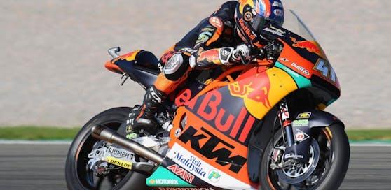 Ein KTM-Motorrag beim MotoGP in Valencia (Symbolbild)