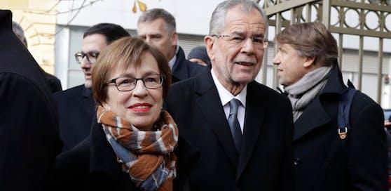 First Lady Doris Schmidauer mit Bundespräsident Alexander Van der Bellen