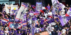 Austria-Fans kamen erst nach Anstoß ins Stadion