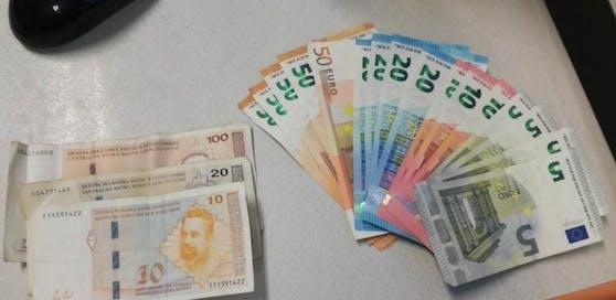 Die Polizei fand bei dem mutmaßlichen Autoeinbrecher mehrere hundert Euro Bargeld.