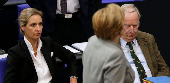 Merkel verliert den Rückhalt, die AfD im Aufwind.