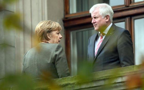 Die deutsche Bundeskanzlerin Angela Merkel (CDU) und CSU-Chef Horst Seehofer.