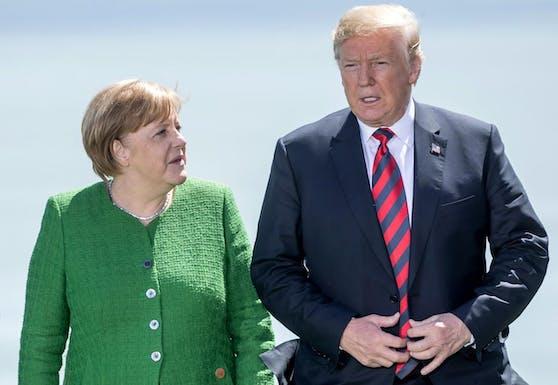 Angela Merkel und Donald Trump während des G7-Gipfels in Kanada am 8. Juni 2018.