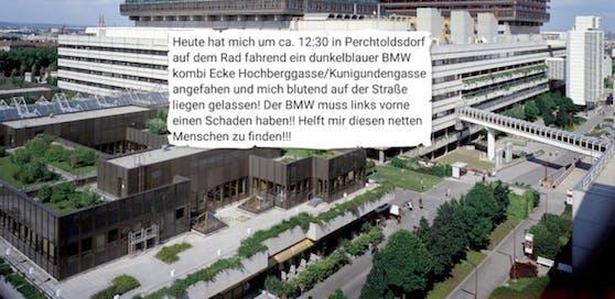Verletzter wurde ins Wiener AKH gebracht; das Posting des Opfers.