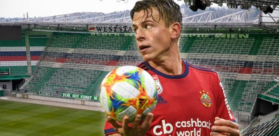 Stefan Schwab vor dem Block West, der im Falle einer Liga-Fortsetzung leer bleiben könnte.