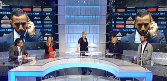 Eklat im italienischen Fernsehen: Juventus-Profi Benatia wird im Interview rassistisch beleidigt.