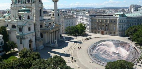Neos-Plan: Wasserspielplatz am Karlsplatz