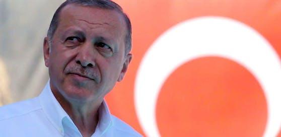 Hat er sich selbst schon zum Wahlsieger gemacht? Präsident Recep Tayyip Erdogan.