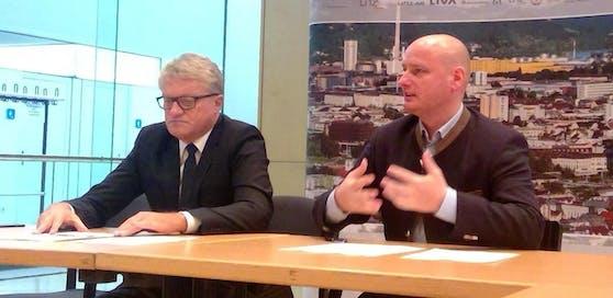 Der Linzer Bürgermeister Klaus Luger (li.) und sein Vize Markus Hein (FPÖ): Platzt jetzt die politische Partnerschaft?