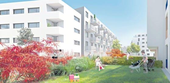Einige Wohnungen sind mit Eigengärten ausgestattet.