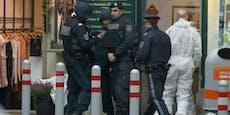Kollegen von Wiener Mafiamord-Opfer posieren mit Leiche