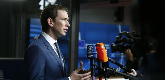 ÖVP-Außenminister Sebastian Kurz vor dem EU-Außenministerrat in Brüssel