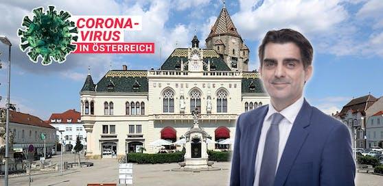 Gepp und das Korneuburger Rathaus.