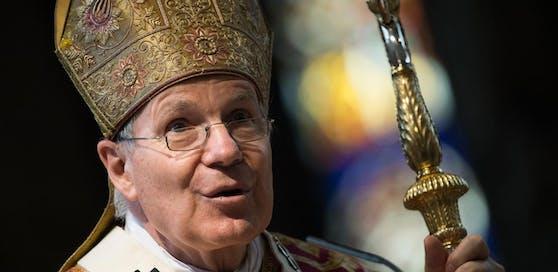 Kardinal Christoph Schönborn während dem Pfingsthochamt 2019 im Wiener Stephansdom.