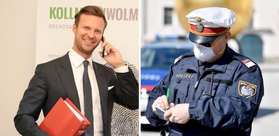Der Wiener Star-Anwalt Philipp Wolm erklärt, wann die Polizei grundsätzliche anzeigen kann  und wann nicht.